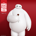 Baymax with a Rose in his hand