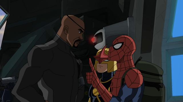 File:Spider-Man Nova Nick Fury USWW.png