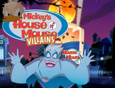 Mickey's House of Villains Ursula Donald Poster