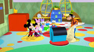 Goofy and donald found a doghouse