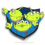 3 Little Green Men Pin