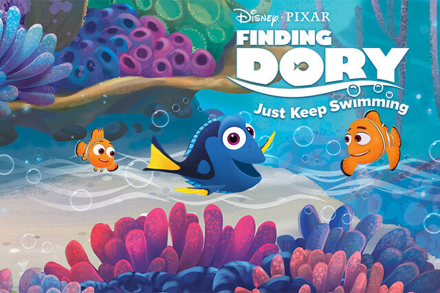 File:Finding Dory Just Keep Swimming Title Screen.jpg
