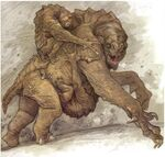 Rancor with young