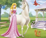 Aurora with Prince Philip's horse