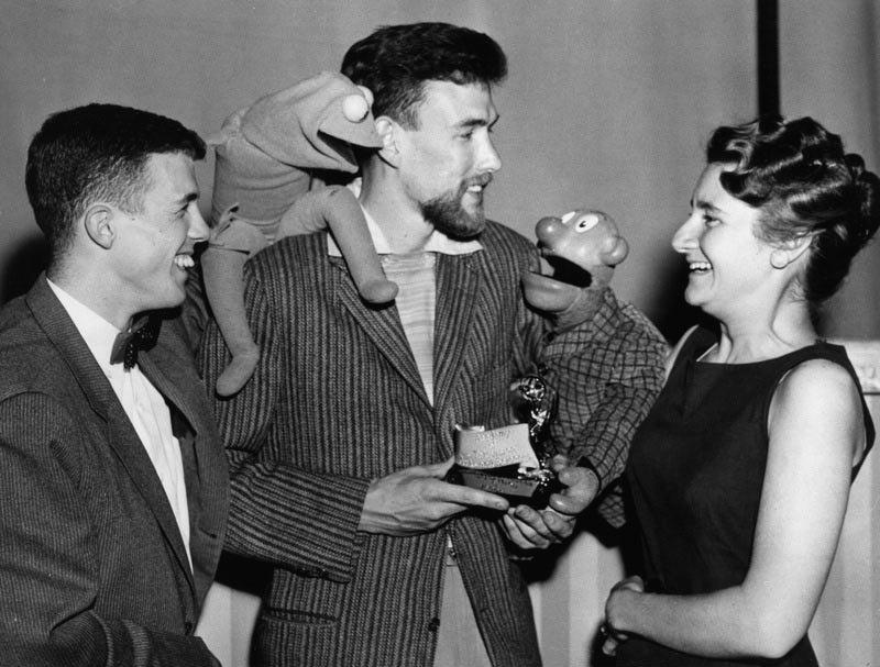 Plik:Bob Payne with Jim & Jane Henson, Sam & Friends.jpg