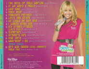 Best of Hannah Montana CD Back Cover