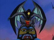 Raven as a gargoyle