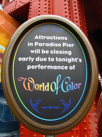 File:World of Color Sign.jpg