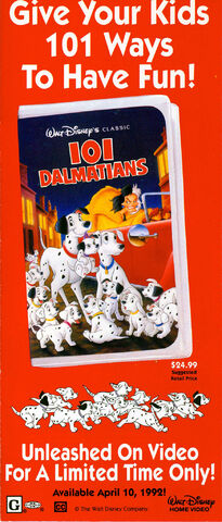 File:101 Dalmatians - VHS Print Ad from 1992 Disneyland Guide.jpg
