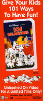 101 Dalmatians - VHS Print Ad from 1992 Disneyland Guide