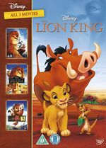 The Lion King Box Set 1-3 2014 UK DVD