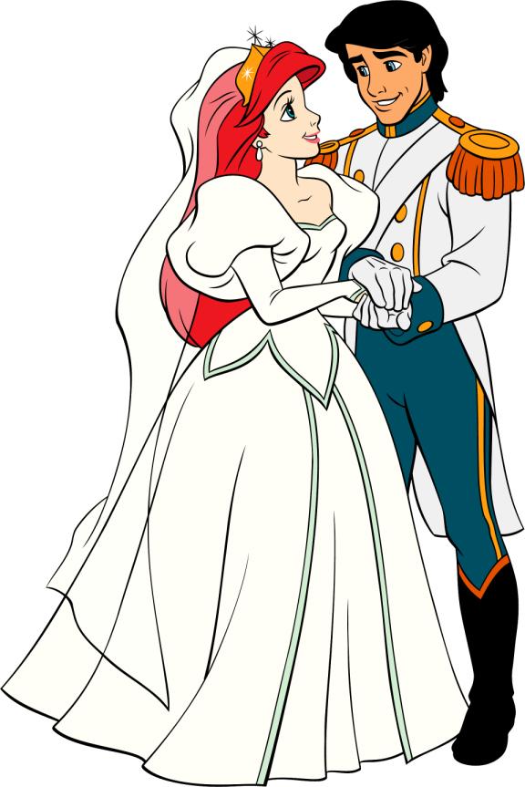 Image Wedding Ariel Eric Bride Groomjpg Disney Wiki FANDOM