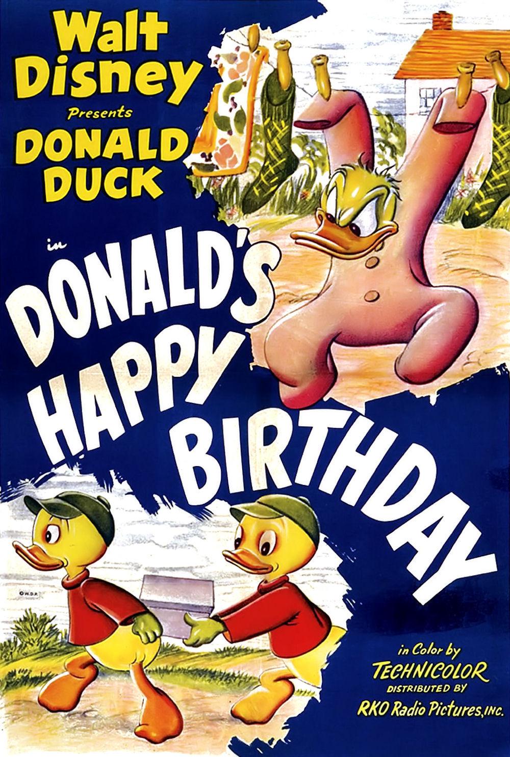 Donalds Happy Birthday Disney Wiki – Donald Duck Birthday Card