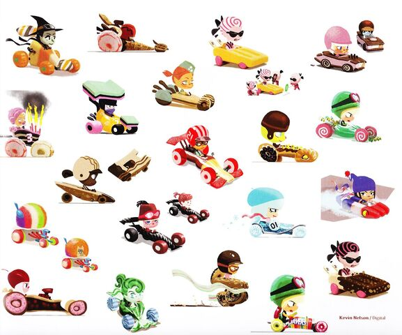 File:Sugar Rush Concept - Scrapped Characters.jpg