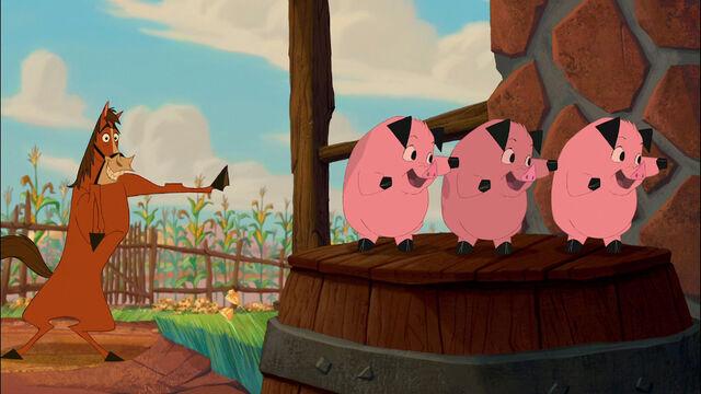 File:Buck teaches the Piggies karate.jpg