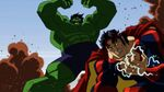 Hulk fighting