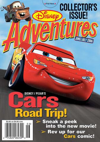 File:Disney Adventures Magazine cover June July 2006 Cars movie.jpg