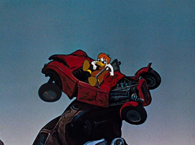 File:Donald in a beaten used up car.jpeg