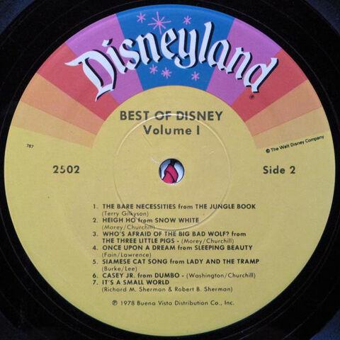 File:Best of Disney Volume 1 Side 2.jpg