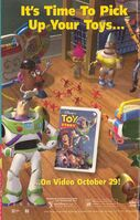 Disney and Pixar's Toy Story - 1996 Promotional VHS Print Advertisement