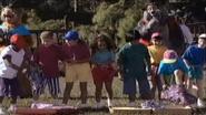 Kids during picnic games