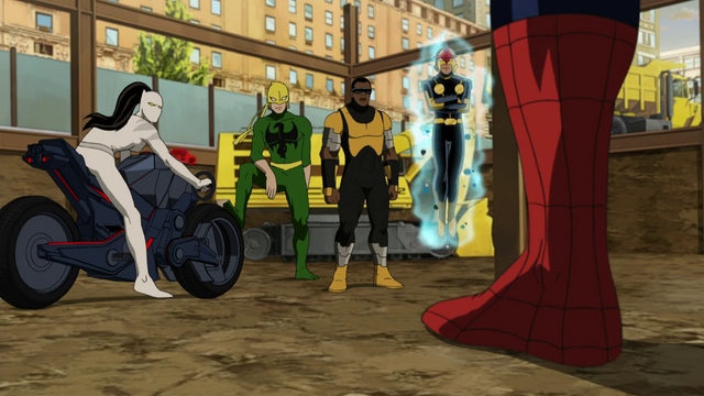 File:Meeting the team Ultimate Spiderman.png