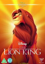 The Lion King UK DVD 2014 Limited Edition slip cover