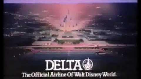 Delta Airlines-The Official Airline Of Walt Disney World