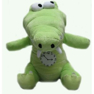 File:Crocodile with clock plush.jpg