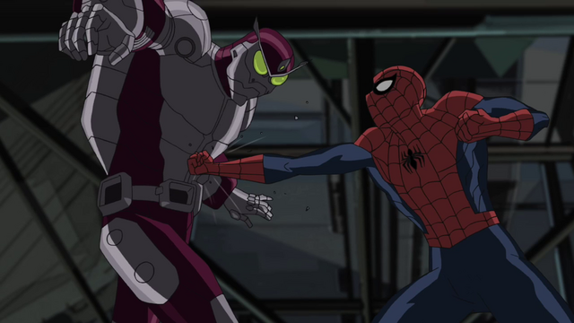 File:Beetle attacking Spider-Man USM 2.png