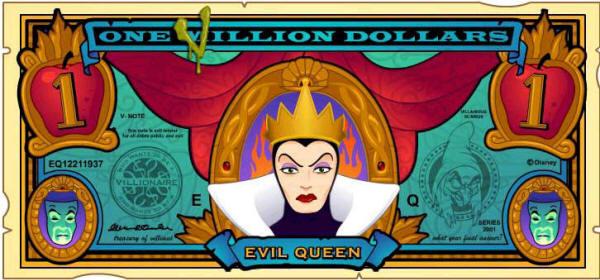 File:The Evil Queen's One Villain dollar bill.jpg
