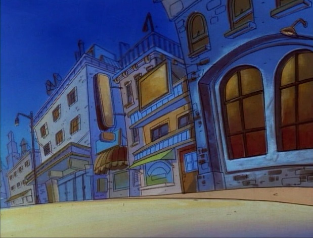 File:Goof Troop - Spoonerville - Downtown at Night from In Goof We Trust - 2.jpg