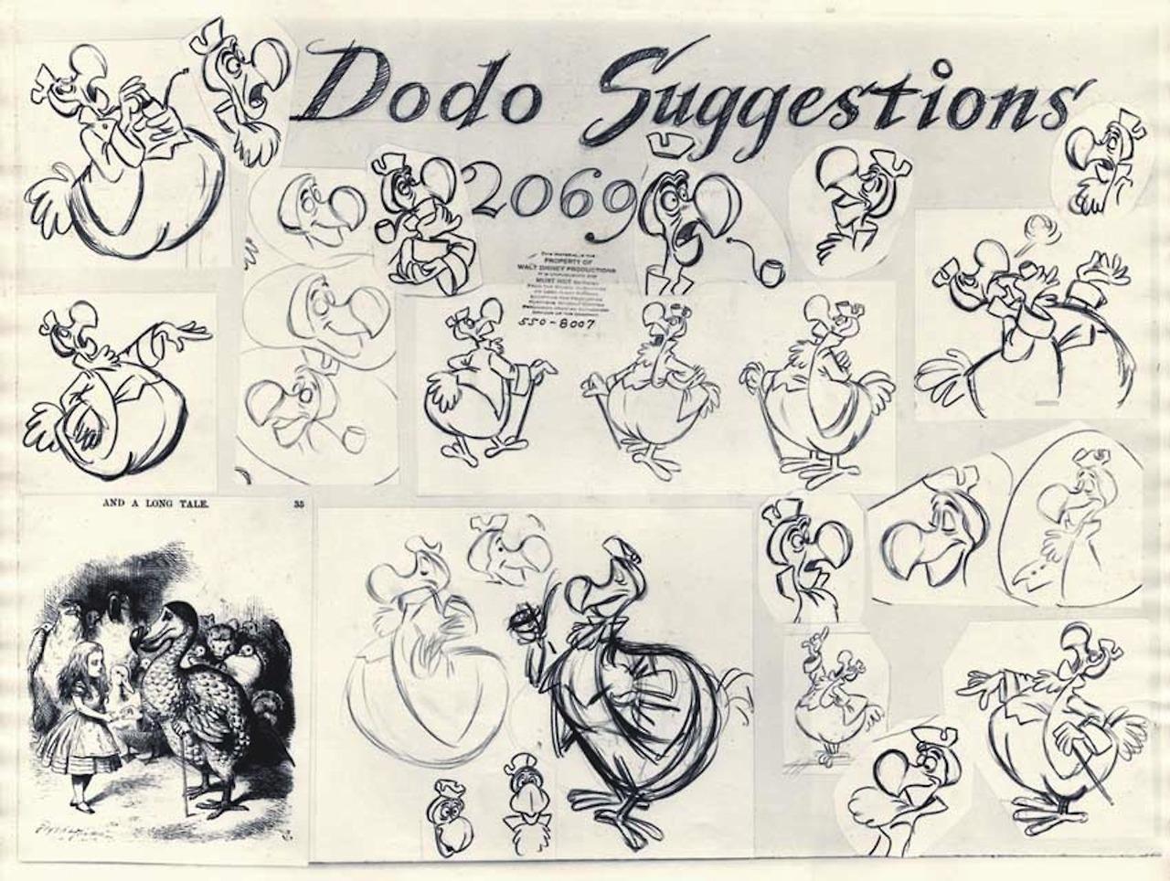 image dodo alice in wonderland modelsheet jpg disney wiki