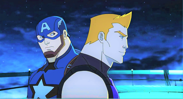 File:Captain America and Hawkeye AUR.png