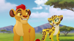 Kion and Fuli smile