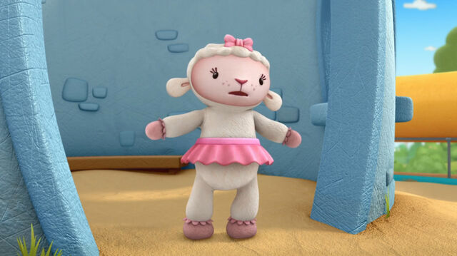 File:Lambie by the castle cave2.jpg