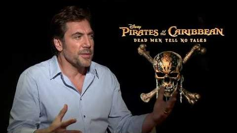 Pirates of the Caribbean 5 Interview - Javier Bardem