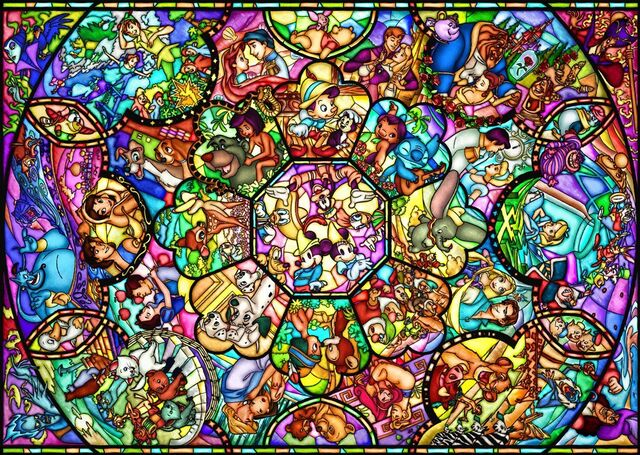 File:Disney characters stained glass.jpg
