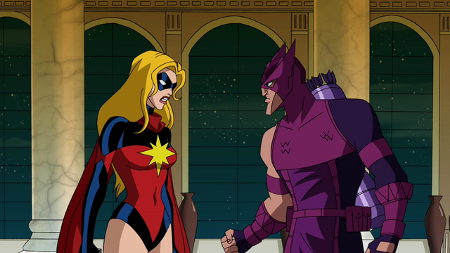 File:Hawkeye and Ms. Marvel argue AEMH.png