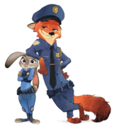 Zootopia Officers Nick and Judy