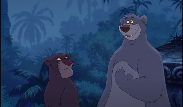 File:Bagheera The Black Panther is not sure about Baloo the Bear's idea.jpg