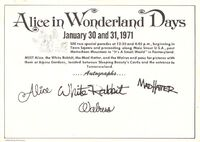 Disneyland postcard alice in wonderland days 1971 back 640