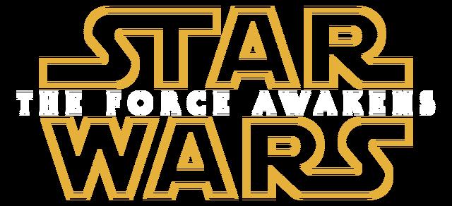File:Star Wars The Force Awakens Transparent Logo.png