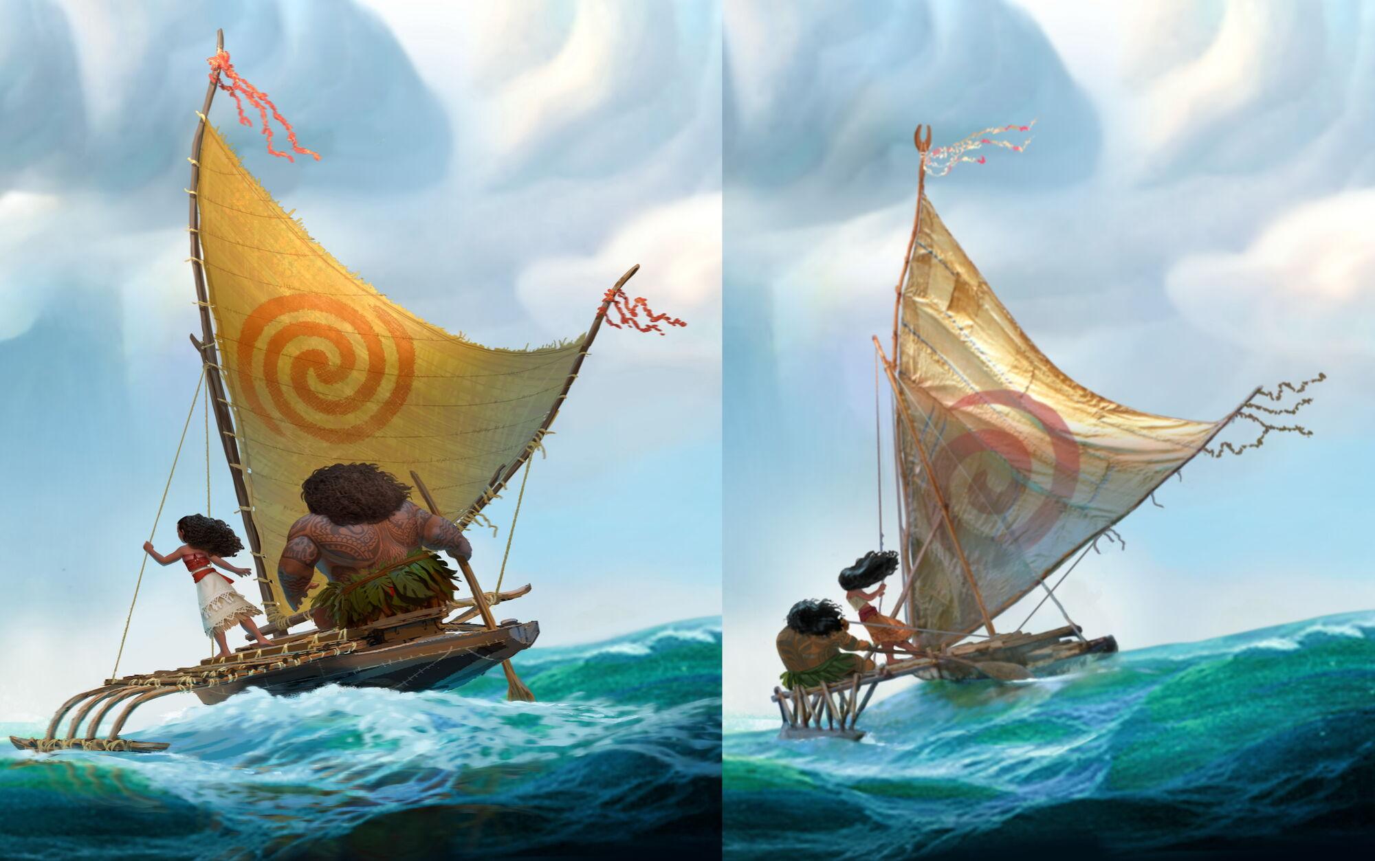 Image Moana Concept Art Differences Jpg Disney Wiki