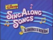 Disney Sing Along Songs The Hunchback of Notre Dame Title Card