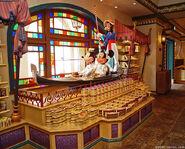 Mickey and Minnie in a Gondola