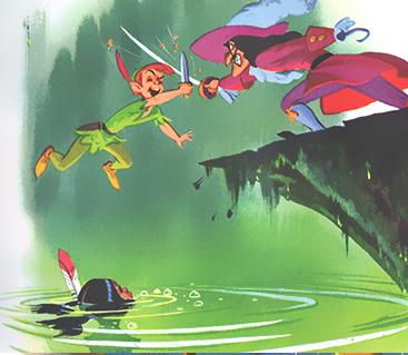 File:Pan Vs Hook-Peter Pan's Little Golden book (1952).png