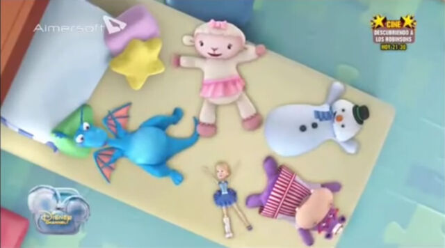 File:The toy gang pretending doing snow angels.jpg