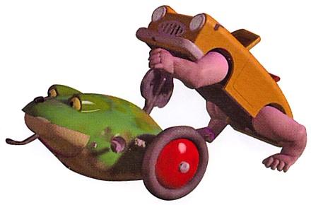 File:Frog and Wallking Car.jpg