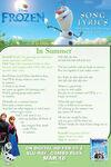 In Summer Lyrics Sheet